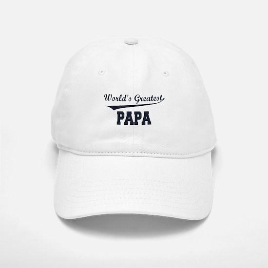 World's Greatest Papa Baseball Baseball Cap