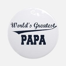 World's Greatest Papa Ornament (Round)