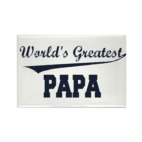 World's Greatest Papa Rectangle Magnet