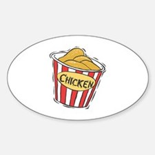 Bucket of Chicken Oval Decal