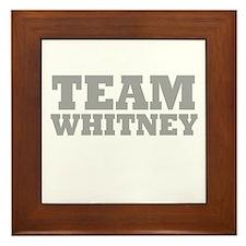 Team Whitney Framed Tile