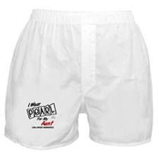 I Wear Pearl For My Aunt 8 Boxer Shorts