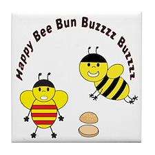 Bee Engrish Tile Coaster