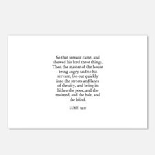LUKE  14:21 Postcards (Package of 8)