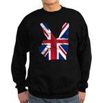 UK Victory Peace Sign Sweatshirt (dark)