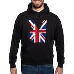 UK Victory Peace Sign Hoodie (dark)