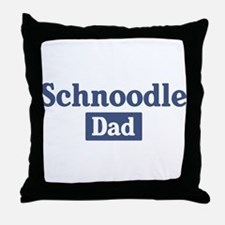 Schnoodle dad Throw Pillow