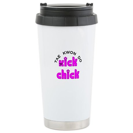 Tae Kwon Do Kick Chick Stainless Steel Travel Mug
