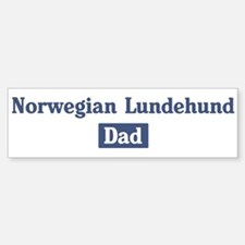 Norwegian Lundehund dad Bumper Bumper Bumper Sticker