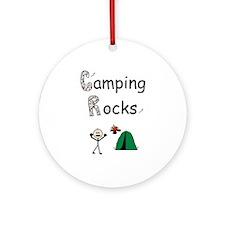 camping rocks ceramic keepsake Ornament (Round)