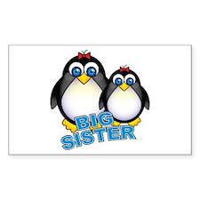 Big Sister Penguins Rectangle Decal