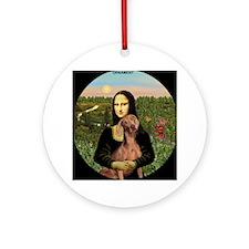 Mona Lisa's Weimaraner Ornament (Round)