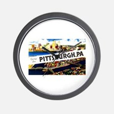 Pittsburgh Pennsylvania Greetings Wall Clock