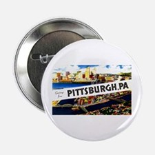 "Pittsburgh Pennsylvania Greetings 2.25"" Button"