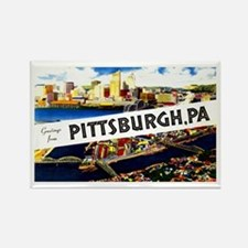 Pittsburgh Pennsylvania Greetings Rectangle Magnet
