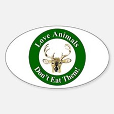 Love Animals Oval Decal