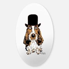 British hat Basset Hound Oval Decal