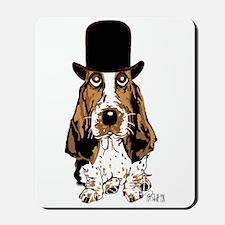 British hat Basset Hound Mousepad