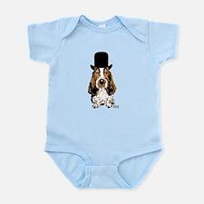 British hat Basset Hound Infant Bodysuit