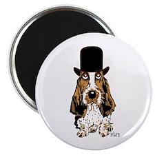"""British hat Basset Hound 2.25"""" Magnet (10 pac"""