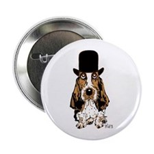 "British hat Basset Hound 2.25"" Button (100 pa"