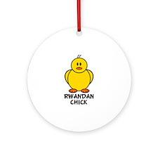 Rwandan Chick Ornament (Round)