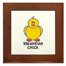 Rwandan Chick Framed Tile