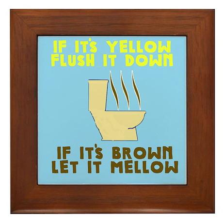 Poop Humor Framed Tile