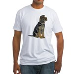 German Shepherd Puppy Fitted T-Shirt