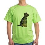 German Shepherd Puppy Green T-Shirt