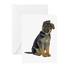 German Shepherd Puppy Greeting Cards (Pk of 10)