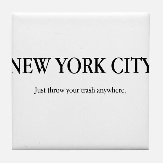 NYC Trash Tile Coaster