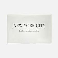 NYC Trash Rectangle Magnet
