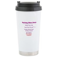 Hockey Mom Stats Travel Mug