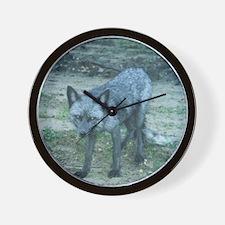 Silver Fox Wall Clock