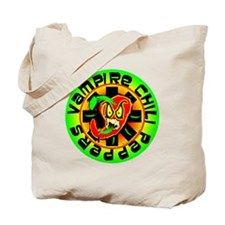 Vampire Chili Peppers Green Tote Bag