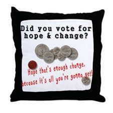 Hope & Change Throw Pillow