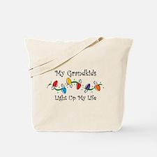 Grandkids Light My Life Tote Bag