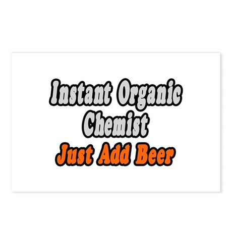 """Organic Chemist..Add Beer"" Postcards (Package of"
