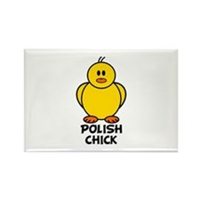 Polish Chick Rectangle Magnet