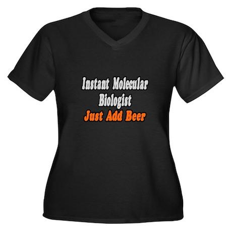 """Molecular Biologist..Beer"" Women's Plus Size V-Ne"