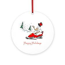 SnoMo Happy Holidays Ornament (Round)