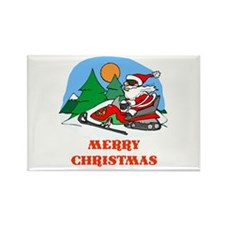 SnoMo Merry Christmas Rectangle Magnet (10 pack)
