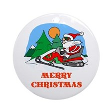 SnoMo Merry Christmas Ornament (Round)