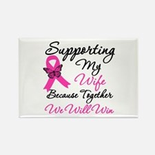 Breast Cancer Support (Wife) Rectangle Magnet (10