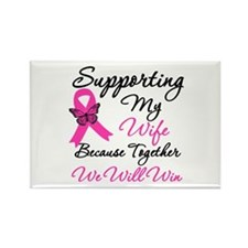 Breast Cancer Support (Wife) Rectangle Magnet