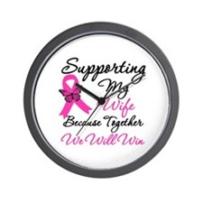 Breast Cancer Support (Wife) Wall Clock