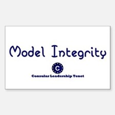 DP-Model Integrity Rectangle Decal