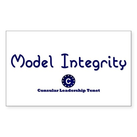 DP-Model Integrity Rectangle Sticker