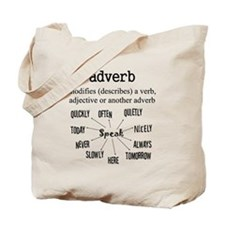 Adverb Tote Bag